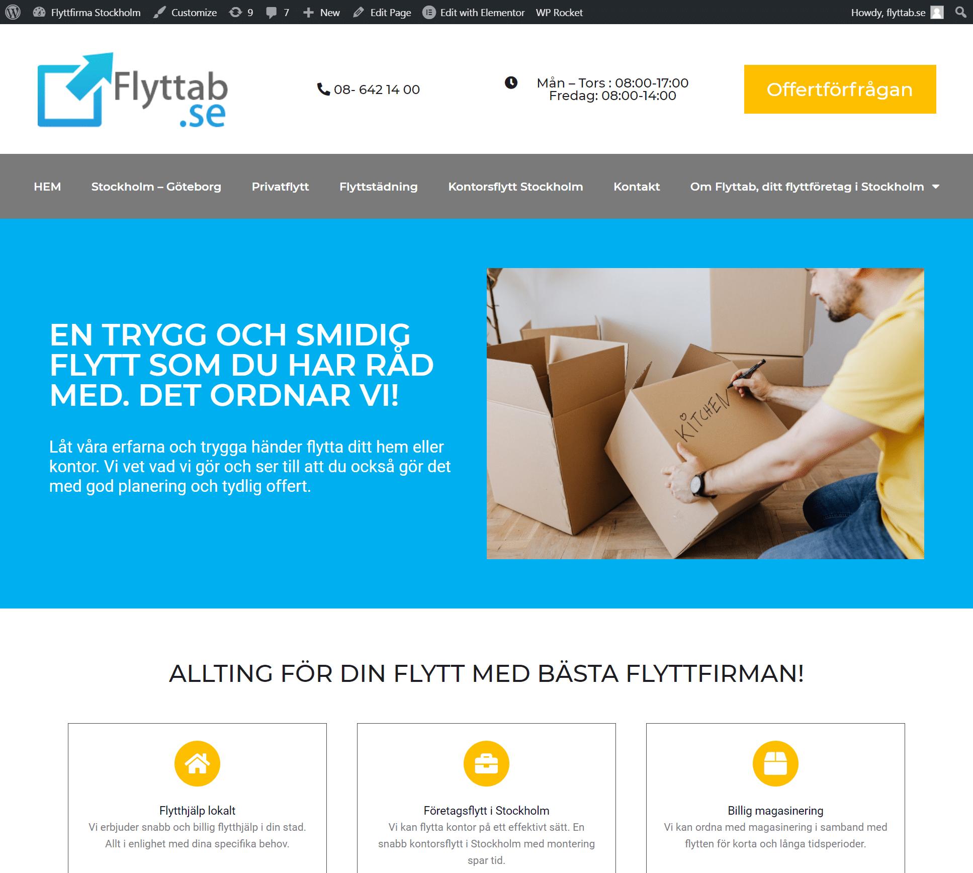 Fltffirma i Stockholm flyttab
